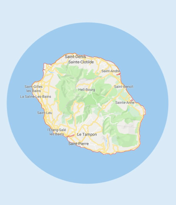 axes routiers et autoroutiers à La Réunion | Markali